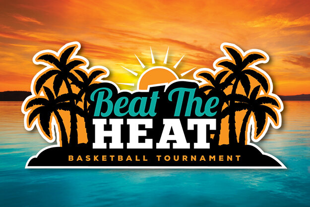 Beat The Heat Basketball Tournament Logo